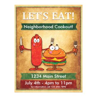 ¡Comamos! Cookout de la vecindad Flyer