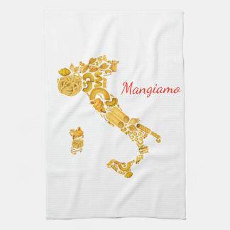 Comamos - la toalla de cocina italiana de las