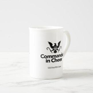 """Comandante en taza de la porcelana de hueso de la"
