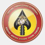 Comando de operaciones especiales del USMC Pegatinas Redondas