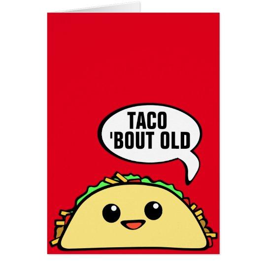 Combate del Taco viejo Tarjeta De Felicitación