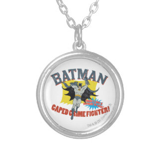 Combatiente del crimen de Batman Caped Colgante Redondo