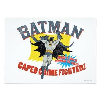 Combatiente del crimen de Batman Caped Invitación 12,7 X 17,8 Cm