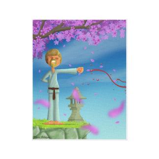 combatiente del fu del kong impresión en lienzo
