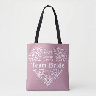 Combine los bolsos de encargo del boda de los