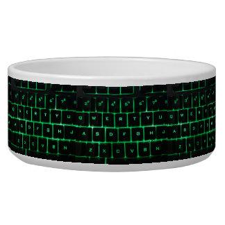 Comedero Llaves verdes qwerty del teclado de ordenador