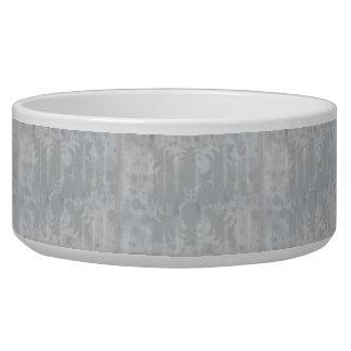 Comedero Modelo floral del gris de plata del vintage