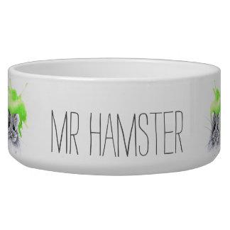 Comedero Nombre de encargo de Sr. Hamster el |