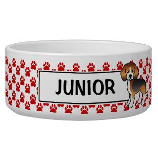 Comedero Patas rojas propio nombre tricolor del beagle y