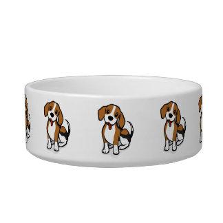 Comedero Perro de perrito lindo de Kawaii pequeño. ¡Beagle!