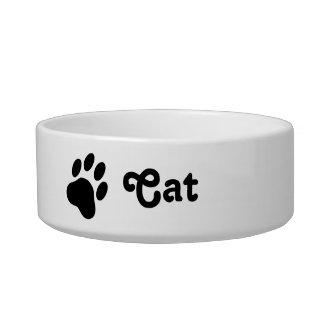 Comedero Silueta simple de la pata del gato con el gato del