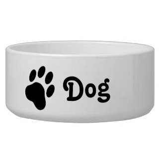 Comedero Silueta simple de la pata del perro con el perro