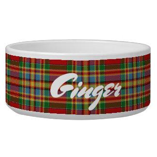 Comedero Tartán escocés de Chattan del clan de los mascotas
