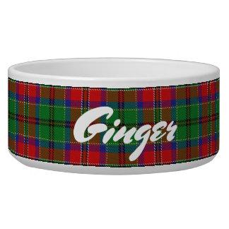 Comedero Tartán escocés de MacCulloch del clan de los