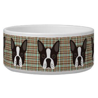 Comedero Tela escocesa de tartán del perro de perrito de
