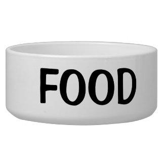 Comedero Texto negro simple de la comida