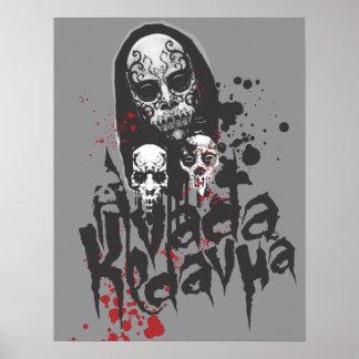Comedor Avada Kedavra de la muerte Póster