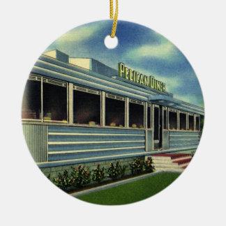 Comensal retro clásico del pelícano del restaurant adorno para reyes
