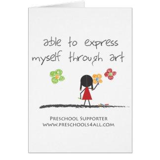 Comentarios preescolares del profesor tarjetas