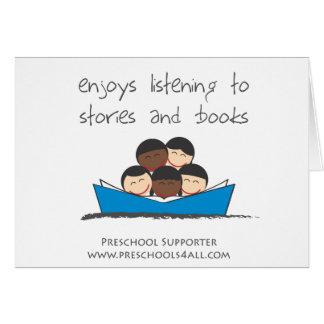 Comentarios preescolares del profesor tarjeta de felicitación
