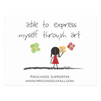 Comentarios preescolares del profesor postales