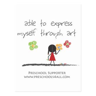 Comentarios preescolares del profesor tarjeta postal
