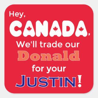 Comercio anti Donald del triunfo para el pegatina
