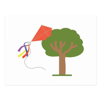 Cometa en árbol postal