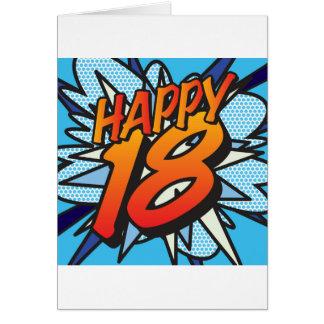 ¡Cómic 18 FELICES! Tarjeta De Felicitación