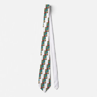 cómic del vintage villan corbatas personalizadas