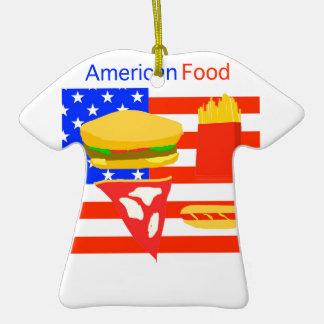 Comida americana adorno