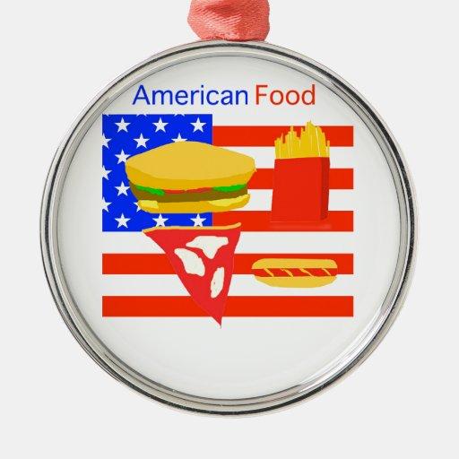 Comida americana adornos de navidad
