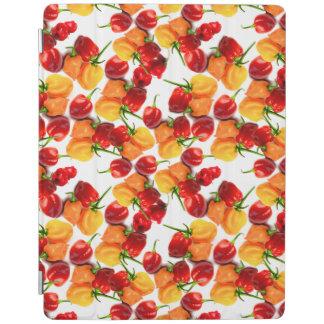 Comida caliente anaranjada de las pimientas rojas cover de iPad