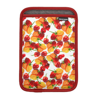 Comida caliente anaranjada de las pimientas rojas funda para iPad mini