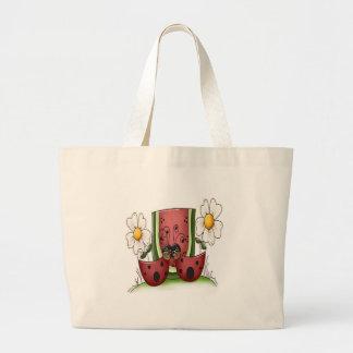 Comida campestre de la mariquita bolsas de mano