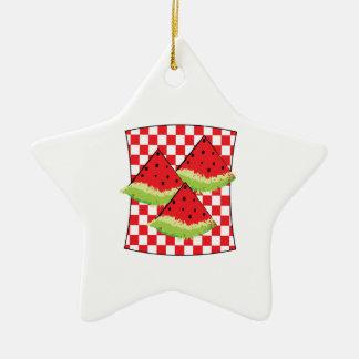 Comida campestre de la sandía ornaments para arbol de navidad