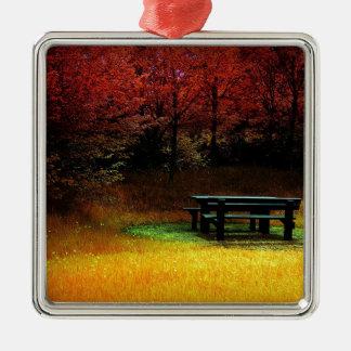 Comida campestre del otoño del bosque ornamento para reyes magos