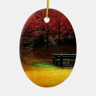 Comida campestre del otoño del bosque ornatos