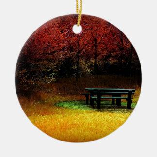 Comida campestre del otoño del bosque ornamento de reyes magos