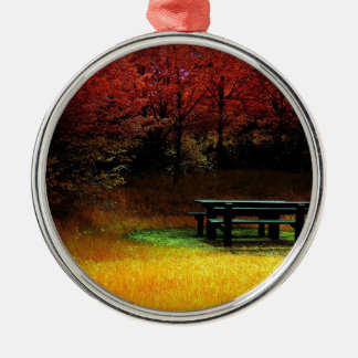 Comida campestre del otoño del bosque ornamentos de navidad