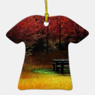 Comida campestre del otoño del bosque adorno de reyes