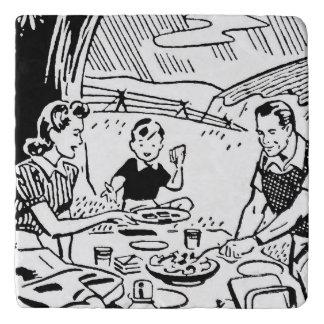 Comida campestre retra de la familia salvamanteles