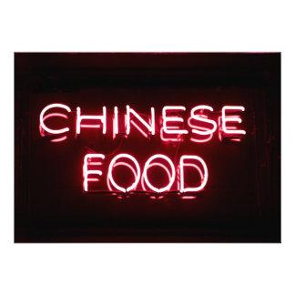 COMIDA CHINA - señal de neón roja