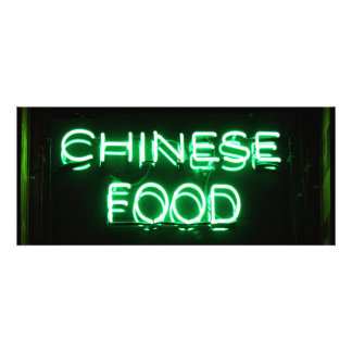 COMIDA CHINA - señal de neón verde
