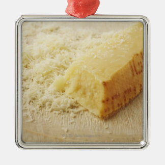 Comida, comida y bebida, queso, parmesano, adorno cuadrado plateado