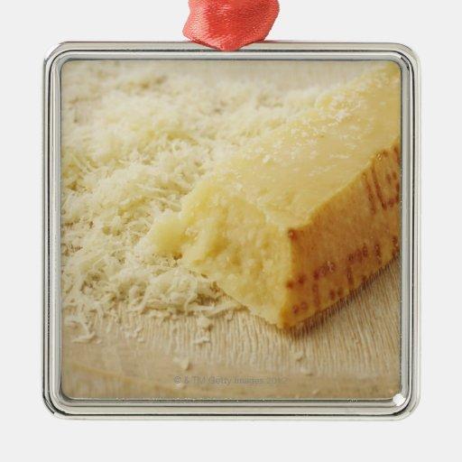 Comida, comida y bebida, queso, parmesano, rallado ornamento para reyes magos
