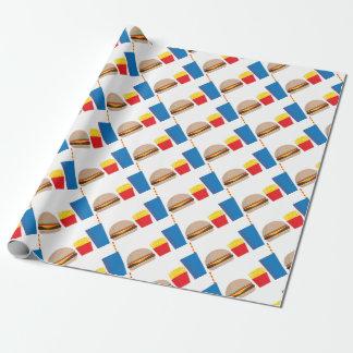 comida de alimentos de preparación rápida papel de regalo