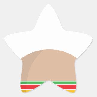 comida de alimentos de preparación rápida pegatina en forma de estrella