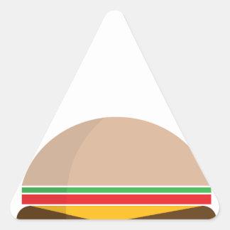 comida de alimentos de preparación rápida pegatina triangular