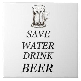Comida de la bebida de la cerveza azulejo
